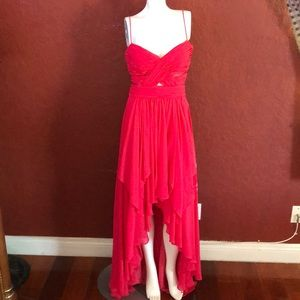 Cache High/Low Pink Dress/Gown Size 8